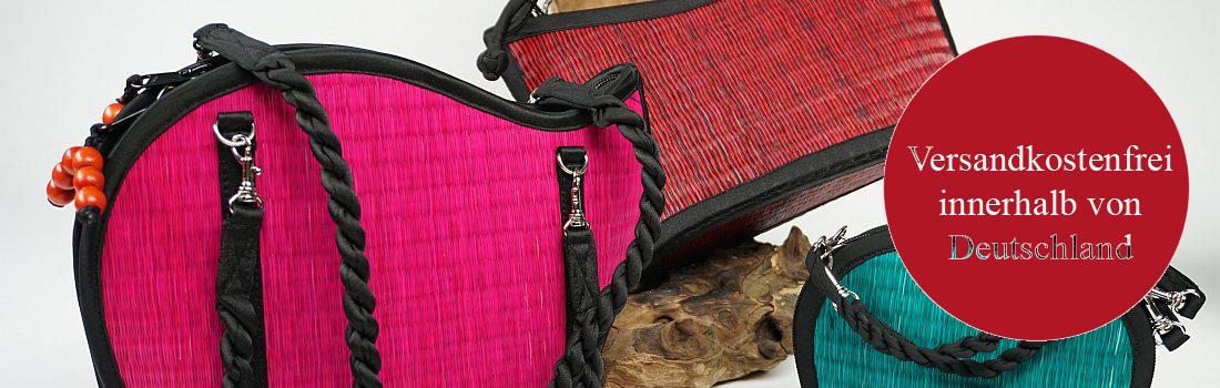 Taschen aus Seidengras
